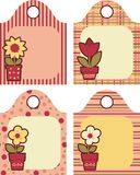 Tag. With flowers for garden and home Royalty Free Stock Images