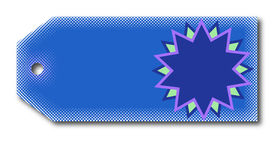 The tag. A blue color gift tag for sale Royalty Free Stock Image