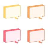 Tag 3D da conversa Imagens de Stock