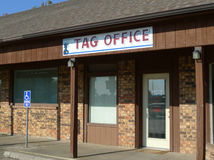 Tag Agency, Driver`s License Office, Auto plates Stock Photography