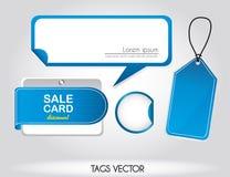 Tag azuis ilustração do vetor