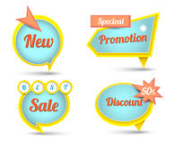 Tag banner for promotion Stock Photography