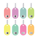 Tag barcodes Royalty Free Stock Image