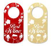 Tag for bottle of wine. Royalty Free Stock Photos
