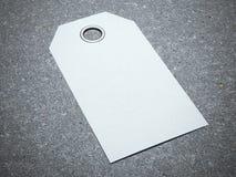Tag branco em branco Fotografia de Stock Royalty Free
