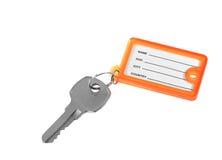 Tag chave e em branco - isolado Fotografia de Stock Royalty Free