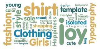 Tag cloud Royalty Free Stock Photos