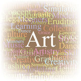 Tag cloud Art Royalty Free Stock Photography