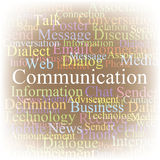 Tag cloud Communication Royalty Free Stock Photography