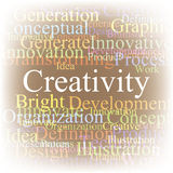 Tag cloud Creativity Stock Photos