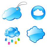 Tag cloud icons Royalty Free Stock Photography
