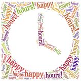 Tag cloud illustration related to happy hours Stock Photo