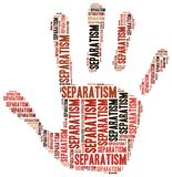 Tag cloud illustration related to separatism Stock Images