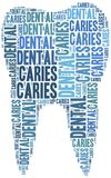 Tag cloud illustration related to teeth care Stock Images