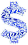 Tag cloud on the subject of finance Stock Photo