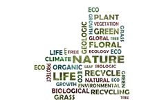 Tag cloud to the main word nature stock photography
