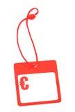 Tag com euro- símbolo Imagem de Stock