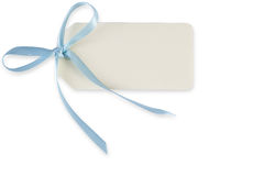 Tag com laço azul imagem de stock royalty free