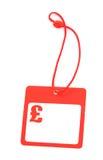 Tag com símbolo da libra Imagem de Stock