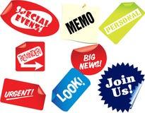 Tag com sinais do anúncio Foto de Stock