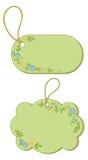 Tag com teste padrão floral Fotos de Stock