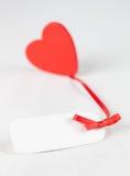 Tag com um coração Fotos de Stock