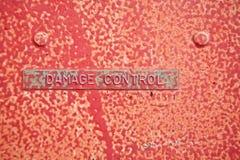 Tag conhecido oxidado Fotografia de Stock Royalty Free