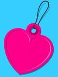 Tag cor-de-rosa do coração ilustração do vetor