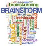 Tag da palavra do Brainstorm ilustração do vetor