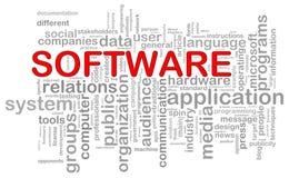 Tag da palavra do software Imagem de Stock