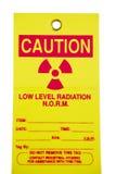 Tag da radiação Imagens de Stock