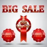 Tag da venda ajustados Fotografia de Stock Royalty Free