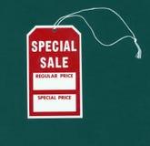 Tag da venda especial Fotografia de Stock Royalty Free