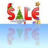 Tag da venda para o Natal Imagem de Stock Royalty Free