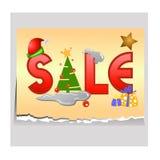 Tag da venda para o Natal Fotos de Stock Royalty Free
