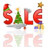 Tag da venda para o Natal Imagem de Stock