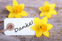 Tag with Danke Royalty Free Stock Photos