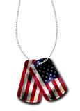 Tag de cão americano Imagens de Stock Royalty Free