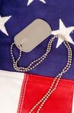 Tag de cão americanos Fotografia de Stock