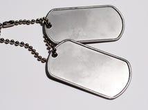 Tag de cão militares Imagens de Stock