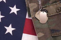 Tag de cão na bandeira Imagem de Stock