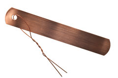 Tag de identificação de cobre isolados fotografia de stock