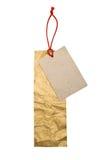 Tag de papel vazios isolados no fundo branco Imagens de Stock Royalty Free
