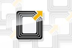 Tag de RFID ilustração do vetor