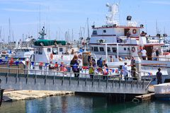 Tag an den Docks im Point Loma, Kalifornien lizenzfreie stockfotografie