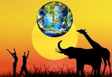 Tag der Erde lizenzfreie abbildung