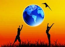 Tag der Erde Stockbild