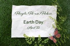Tag der Erde am 22. April Konzept-Bild Stockfotografie