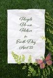 Tag der Erde am 22. April Konzept-Bild Lizenzfreie Stockfotos