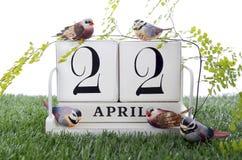 Tag der Erde am 22. April Konzept-Bild Stockbilder